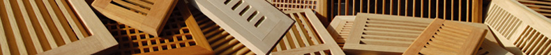 wood wall registers, wood wall vents, wood wall diffusers, wood wall grills,manufacturer, supplier